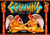 Columns Genesis Alternate title screen.