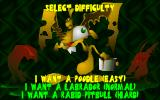 Toxic Bunny DOS Selecting difficulty