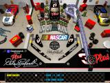 3-D Ultra NASCAR Pinball Macintosh First level in full NASCAR theme