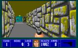 Wolfenstein 3D PC-98 Episode II begins with a psychedelic yellow sewer-themed level