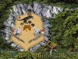 3-D Ultra Pinball: The Lost Continent Macintosh mini-game hit the Tyrannosaurus rex but be careful he will eat your pinballs