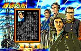 Ishin no Arashi PC-98 Title screen + introducing generals