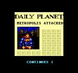 Superman: The Man of Steel SEGA Master System A newspaper is shown between the different rounds.