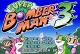 Super Bomberman 3 SNES Title Screen/Main Menu