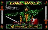 Lone Wolf: The Mirror of Death DOS Title screen