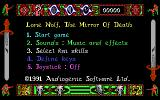 Lone Wolf: The Mirror of Death DOS Main menu