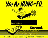 Yie Ar Kung-Fu Electron A Monochrome loading screen