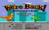 We're Back!: A Dinosaur's Story DOS Title screen