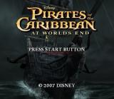 Disney Pirates of the Caribbean: At World's End PlayStation 2 Title screen.
