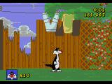 Sylvester and Tweety in Cagey Capers Genesis The second level is set outside.