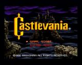 Castlevania Chronicles PlayStation Main Menu (if you select Original Mode)