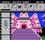 Tiny Toon Adventures: Cartoon Workshop NES Choosing the first character to appear