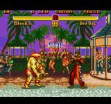 Super Street Fighter II Genesis Blanka vs. Dee Jay