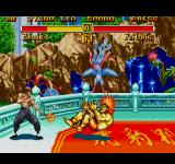 Super Street Fighter II Genesis Feilong fights against the oncoming loss