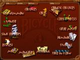 Bicycle Board Games Windows Main menu.