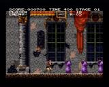 Castlevania Chronicles PlayStation (Arrange Mode) Encountering first wave of your victims.