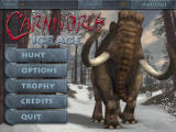 Carnivores: Ice Age Windows The main options screen. The number shown in the account section is the amount of credits (money) you have.