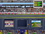 F1 Manager Professional DOS This time, the map screen is replaced by the miniature 3D view of the race