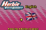 Disney's Herbie: Fully Loaded Game Boy Advance Language selection