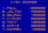 James Bond 007: The Duel Genesis High score list