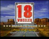 Eighteen Wheeler: American Pro Trucker PlayStation 2 Title screen.