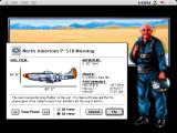 Chuck Yeager's Air Combat Macintosh Test flight choose your plane