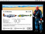 Chuck Yeager's Air Combat Macintosh Shows performance stats before mission to help you plan tactics and strategy