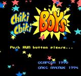 Chiki Chiki Boys TurboGrafx CD Title screen