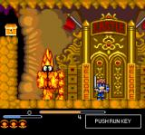 Chiki Chiki Boys TurboGrafx CD Boss battle. This fiery guy guards the castle