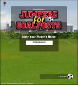 Jumpers for Goalposts Browser Title screen