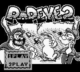 Popeye 2 Game Boy Main Menu