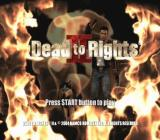 Dead to Rights II PlayStation 2 Title screen.