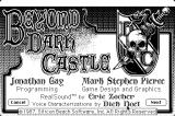 Beyond Dark Castle Macintosh Info in game