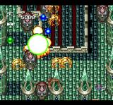 Seireisenshi Spriggan TurboGrafx CD Palace interior. Note the shiny orbs: these are power ups! Not that I need more, what with the green bombs I have and all