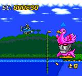 Super Air Zonk: Rockabilly-Paradise TurboGrafx CD The next boss is... a DUCK?..
