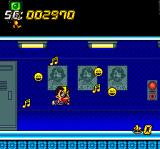 Super Air Zonk: Rockabilly-Paradise TurboGrafx CD This new power up turns you into... a SINGER! You kill enemies with MUSIC! Now that's really something... :)