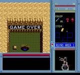 Brandish TurboGrafx CD Fell into a shallow pit. Must be one of the most embarrassing deaths in the history of video games