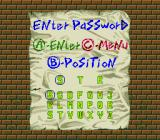 Pac-Attack Genesis Password screen for the puzzle mode