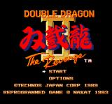 Double Dragon II: The Revenge TurboGrafx CD Title screen