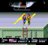 Double Dragon II: The Revenge TurboGrafx CD What a meeting near a helicopter. Gay romance? No, actually it's not. Just another enemy I have to beat to a bloody pulp