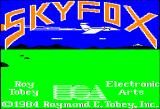 Skyfox Apple II Title screen with credits