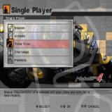 MotoGP 4 PlayStation 2 Menu screen (Single Player Mode).
