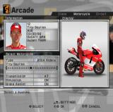 MotoGP 4 PlayStation 2 Rider selection.