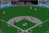 MicroLeague Baseball Apple II Pop fly ball short center field allows two runners at 2nd and 3rd