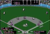 MicroLeague Baseball Apple II Top of 8th I have bases loaded up by 1 run 5 to 4