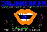 Jawbreaker Apple II Title screen
