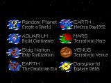 SimEarth: The Living Planet TurboGrafx CD Choose your planet!
