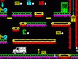 Wibstars ZX Spectrum When you reach the customer's shop, you have to negotiate the platforms and traps to deliver the goods to the manager's office door at the top of the screen