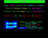 Frak! BBC Micro Instructions and Control key screen