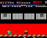 Yie Ar Kung-Fu 2: The Emperor Yie-Gah BBC Micro Another scene change and Wei-Chin throws boomerangs at you